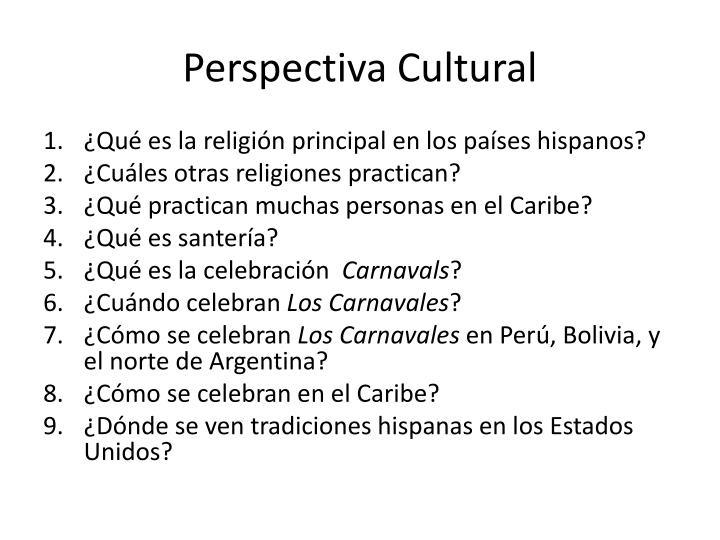 perspectiva cultural n.