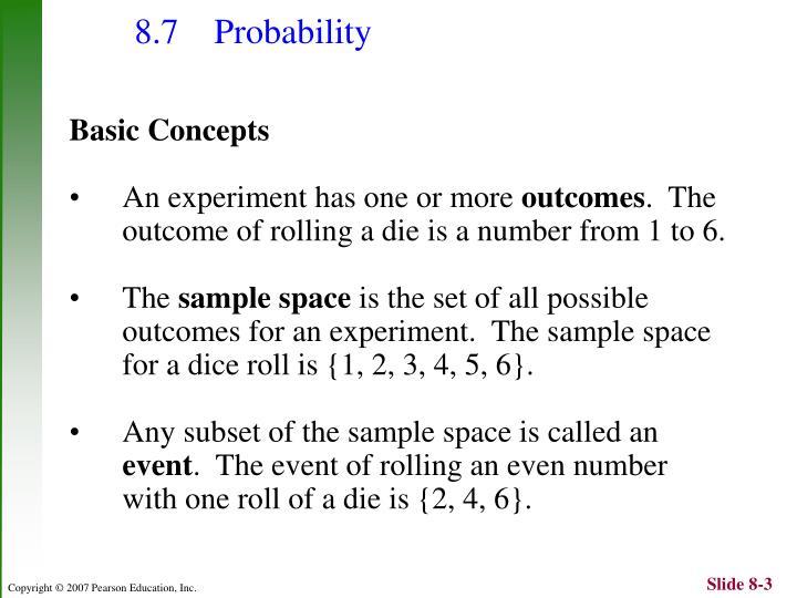 8 7 probability