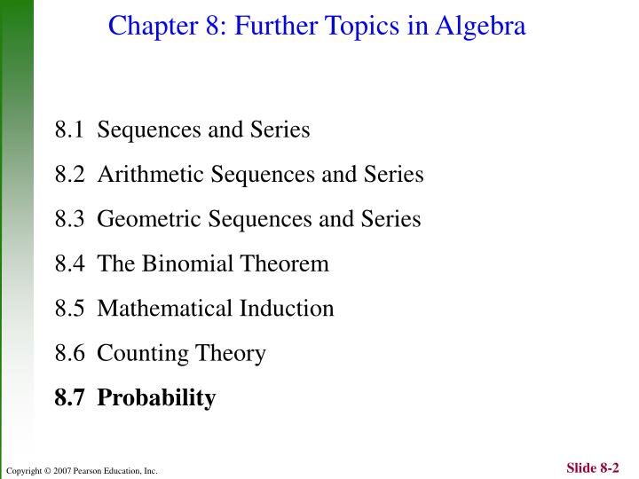 Chapter 8 further topics in algebra