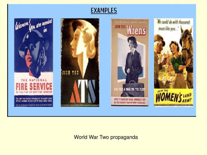 World War Two propaganda