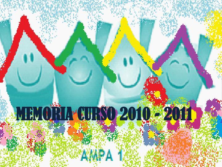 MEMORIA CURSO 2010 - 2011