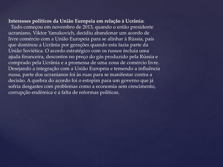 Interesses políticos da União