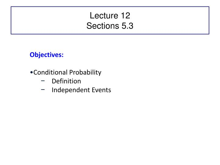 lecture 12 sections 5 3 n.