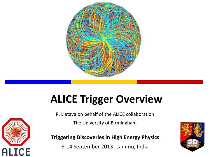 r lietava on behalf of the alice collaboration the university of birmingham n.