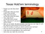 texas hold em terminology