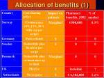 allocation of benefits 1
