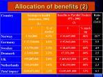 allocation of benefits 2