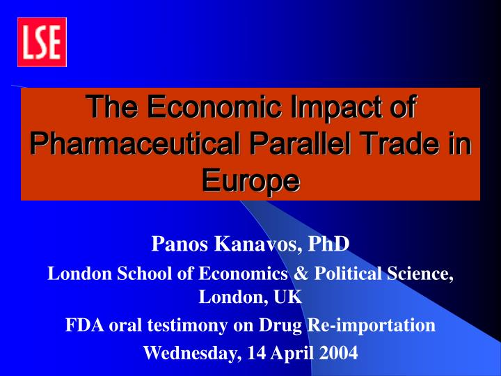 the economic impact of pharmaceutical parallel trade in europe n.