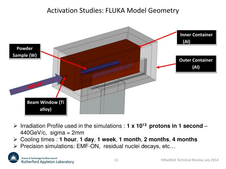 Activation Studies: FLUKA Model Geometry