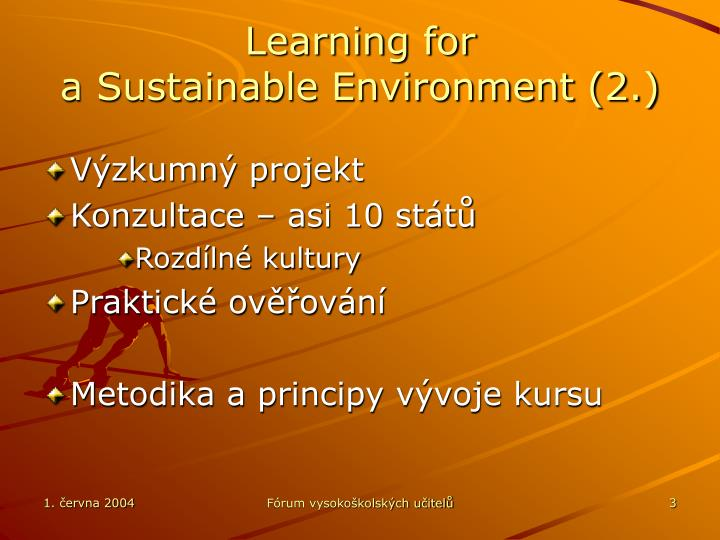 Learning for a sustainable environment 2