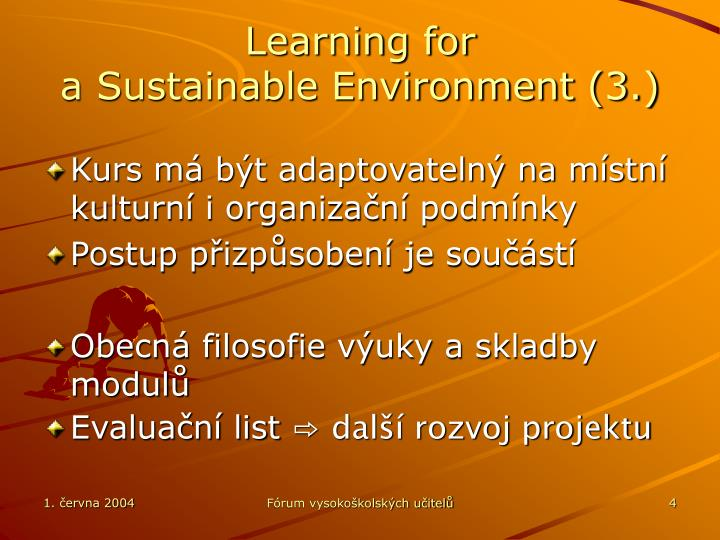 Learning for