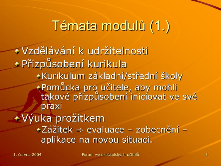 Témata modulů (1.)