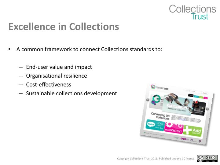 Excellence in Collections