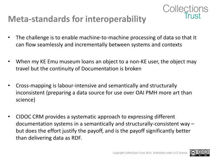 Meta-standards for interoperability