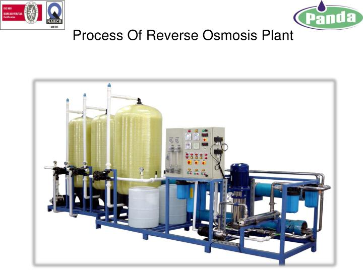 process of reverse osmosis plant n.