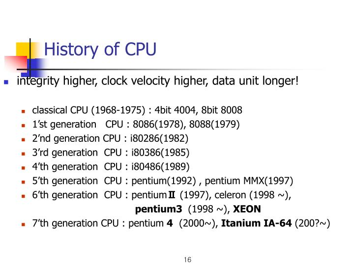 History of CPU