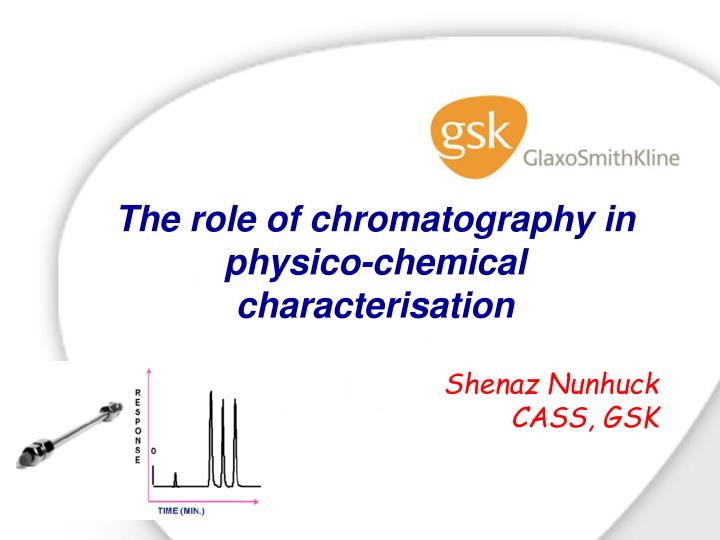 the role of chromatography in physico chemical characterisation n.