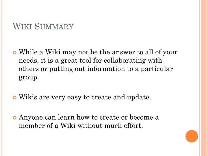 Wiki Summary