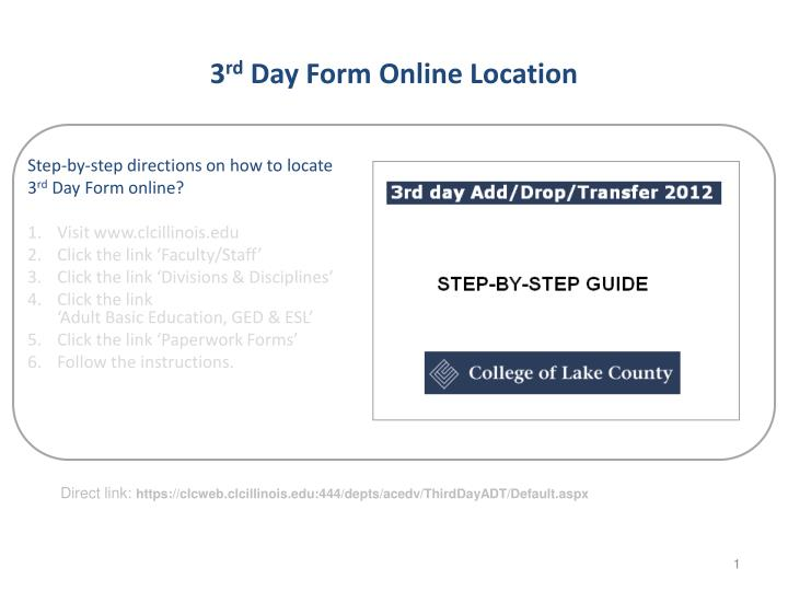 3 rd day form online location n.