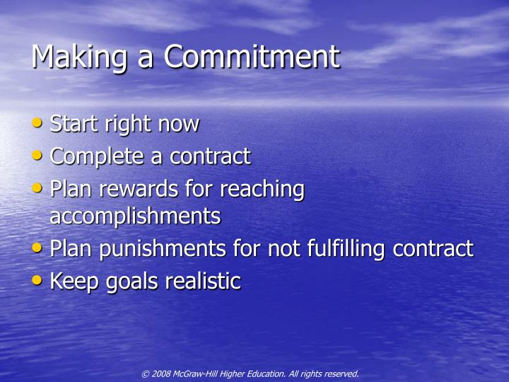Making a Commitment