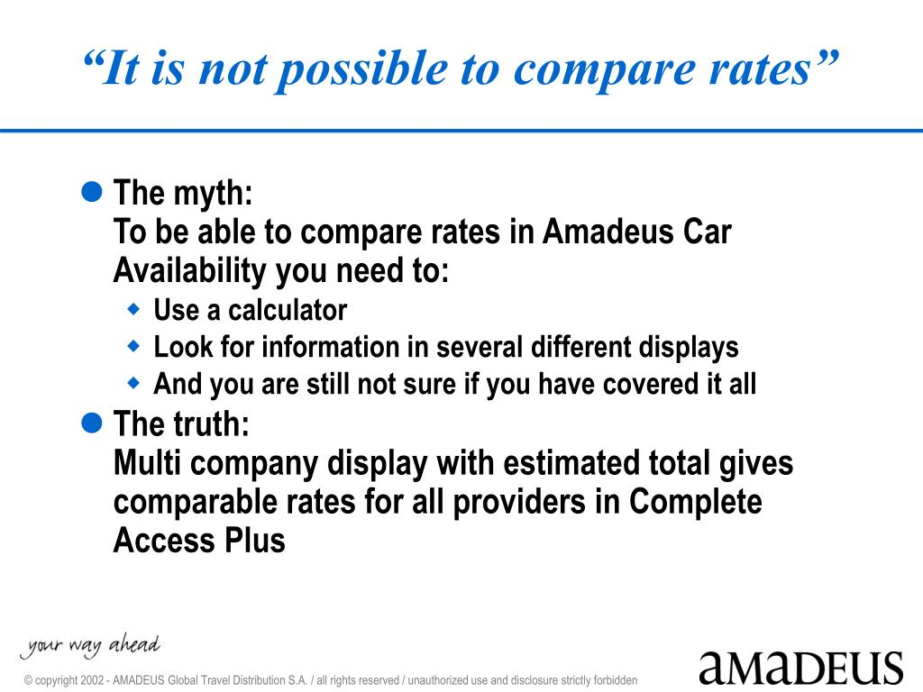 PPT - Amadeus Cars Product PowerPoint Presentation - ID:6264630
