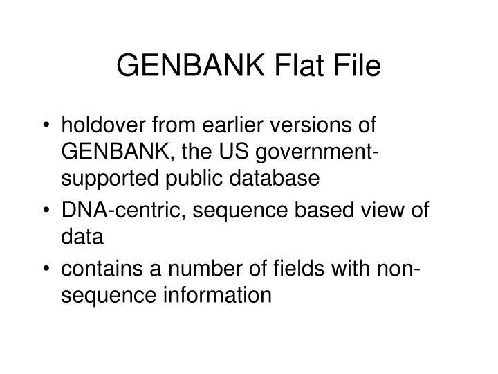GENBANK Flat File