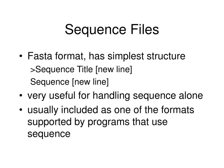 Sequence files