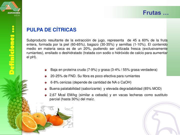 Frutas …