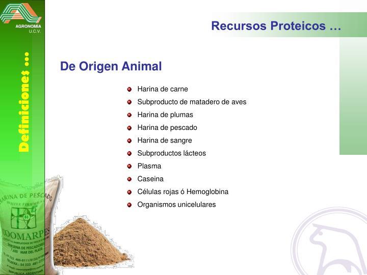 Recursos Proteicos …