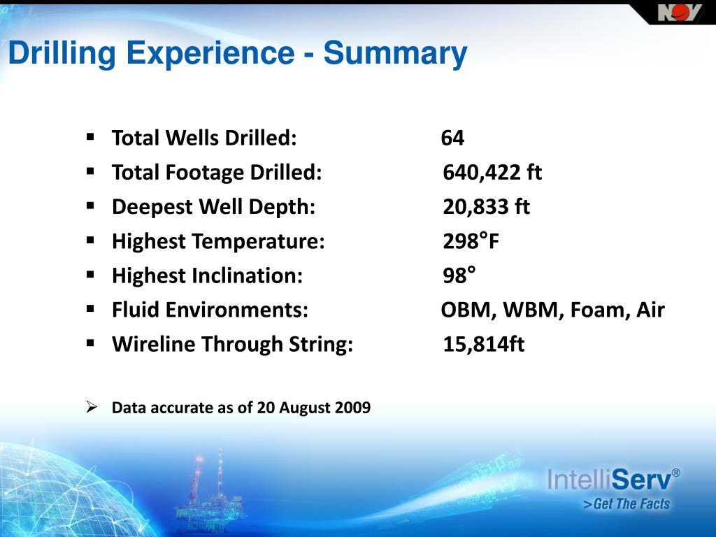 PPT - NOV IntelliServ August 28, 2009 Houston, Texas