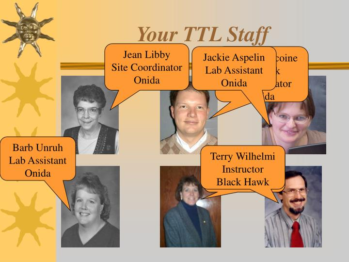 Your TTL Staff