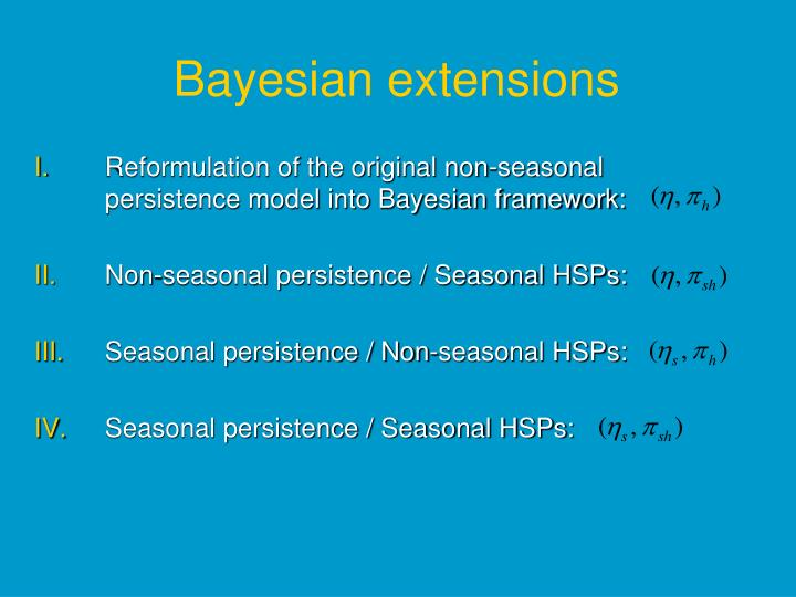 Bayesian extensions