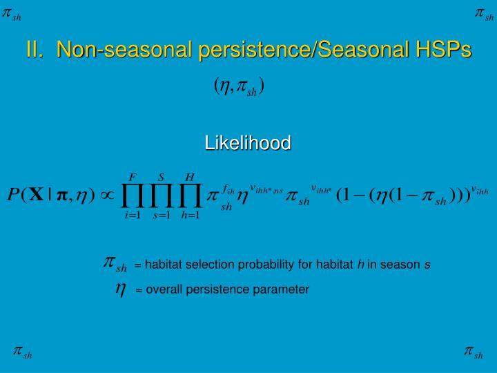 = habitat selection probability for habitat