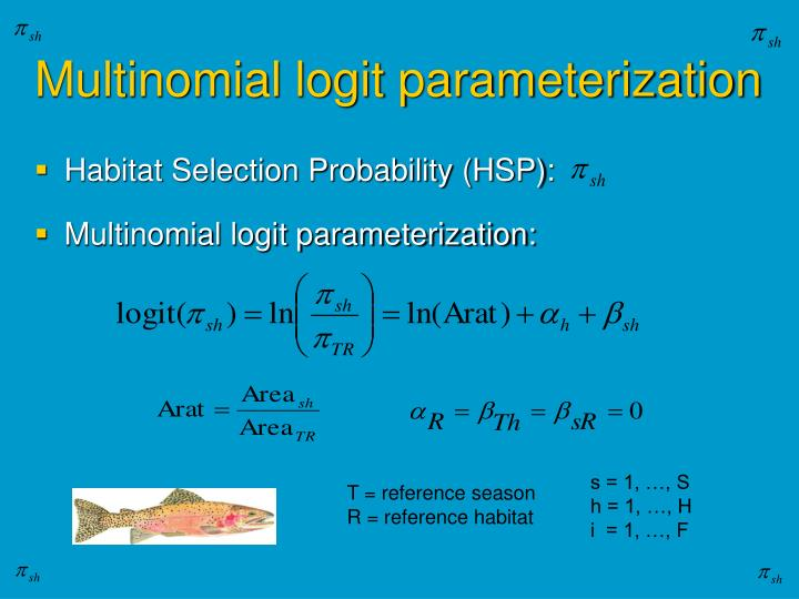 Multinomial logit parameterization
