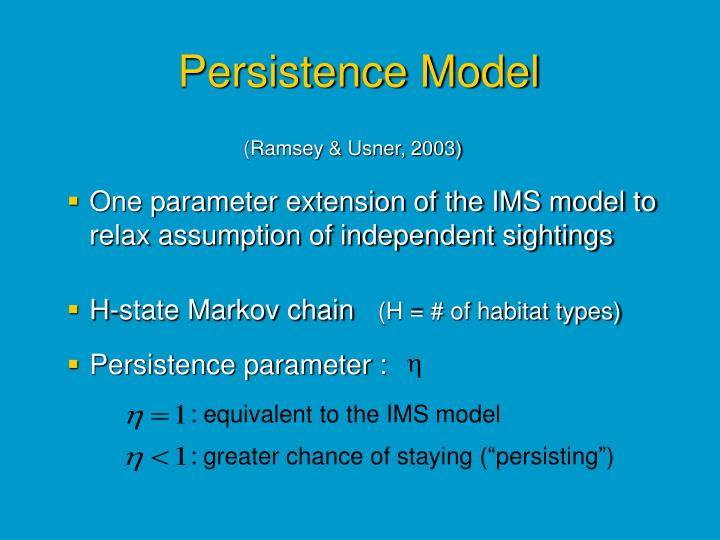 : equivalent to the IMS model