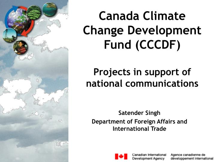 canada climate change development fund cccdf projects in support of national communications n.