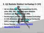 3 uji reduksi bakteri terhadap cr vi