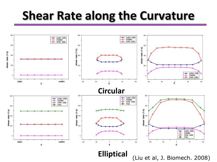 Shear Rate along the Curvature