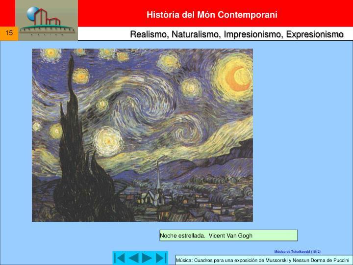 Noche estrellada.  Vicent Van Gogh