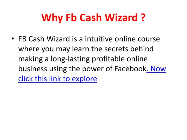 Why fb cash wizard