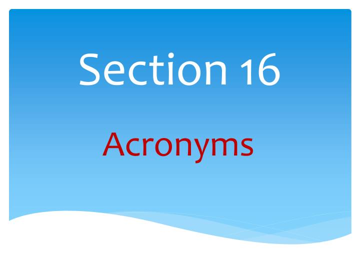 section 16 n.