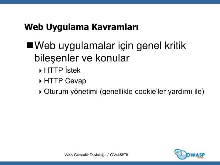 Web Uygulama Kavramları