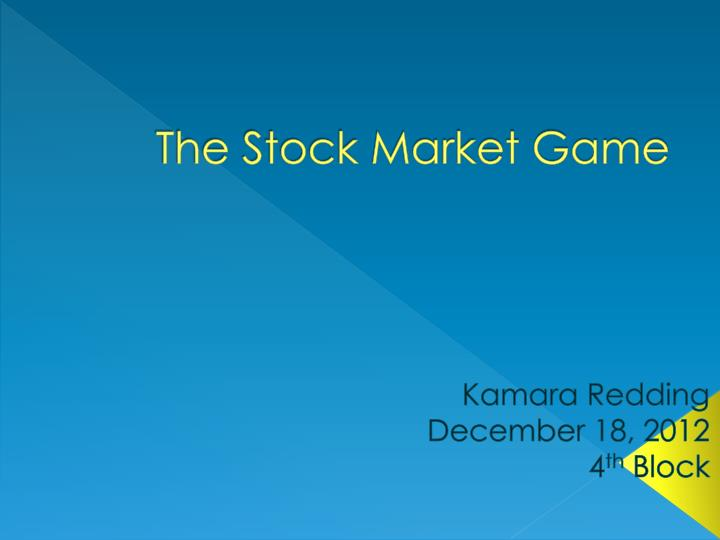 the stock market game n.