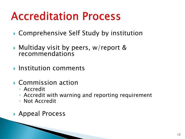 Accreditation Process