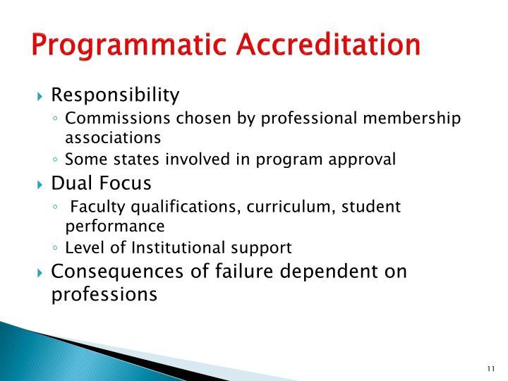 Programmatic Accreditation