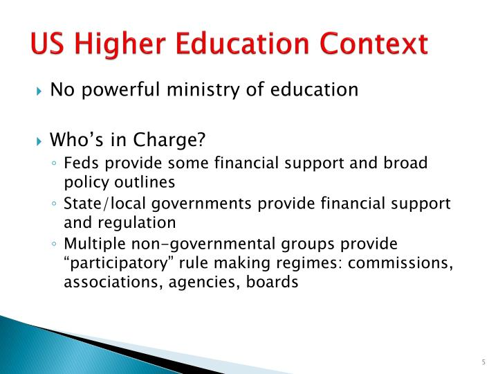 US Higher Education Context