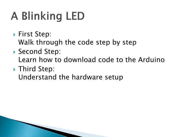 A Blinking LED