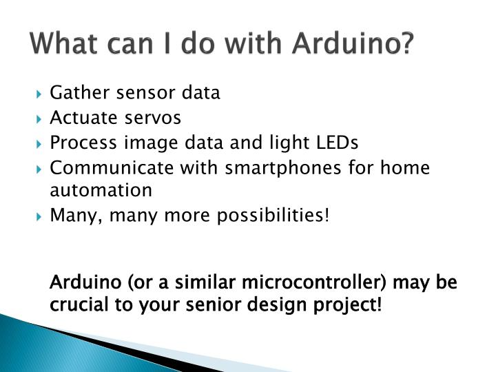 What can i do with arduino