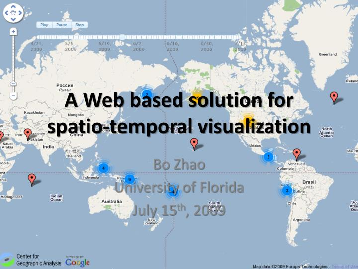 a web based solution for spatio temporal visualization n.