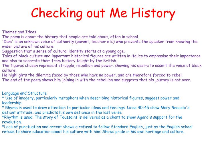 PPT - Checking out Me History PowerPoint Presentation - ID